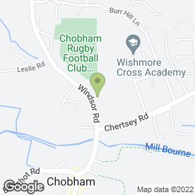 Map of Jackanory Pre-School in Chobham, Woking, surrey