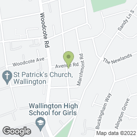 Map of Avenue Road Veterinary Surgery in Wallington, surrey
