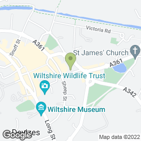 Map of Acropolis in Devizes, wiltshire
