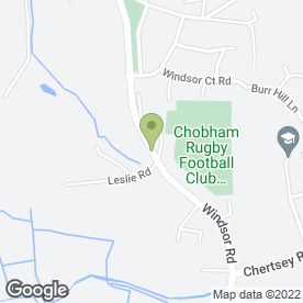 Map of Aura Spa in Chobham, Woking, surrey