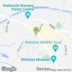 Map of Atwell Martin in Devizes, wiltshire