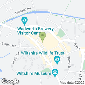 Map of Cinders in Devizes, wiltshire