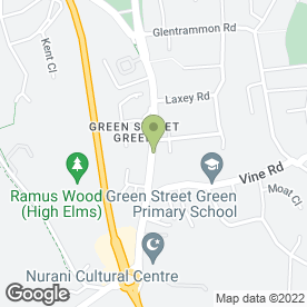 Map of Victoria Sharp Beauty Therapist in Green Street Green, Orpington, kent