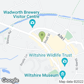 Map of MARKET PLACE LAUNDERETTE in Devizes, wiltshire