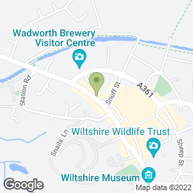 Map of Mikey's Barber Shop in Devizes, wiltshire
