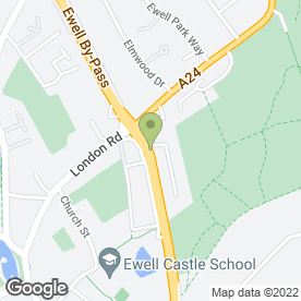 Map of Shurgard Self Storage - Ewell in Epsom, surrey