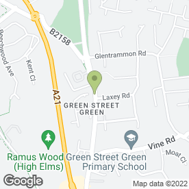 Map of Vanity London in Green Street Green, Orpington, kent