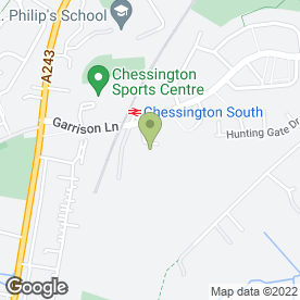 Map of Chessington Golf Centre in Chessington, surrey