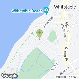 Map of Windy Corner Stores & Cafe in Whitstable, kent