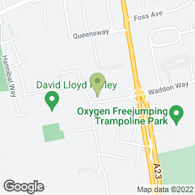 Map of PREMIER INN in Croydon, surrey