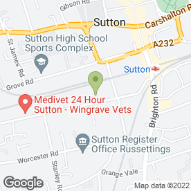 Map of Ph Building Solutions Ltd in Sutton, surrey