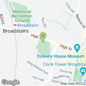 Map of PIERREMONT PARK PRESCHOOL in Broadstairs, kent