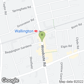 Map of Wallington Plastering Services Ltd in Wallington, surrey
