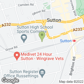 Map of Mint Windows in Sutton, surrey