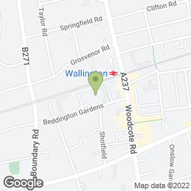 Map of SIESTA BLINDS in Wallington, surrey