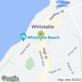 Map of Wheelers Oyster Bar in Whitstable, kent