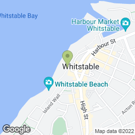 Map of Whitstable Oyster Fishery Co in Whitstable, kent