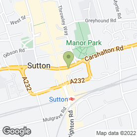 Map of Right at Home in Sutton, surrey