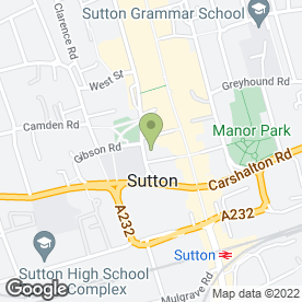 Map of Cranleys in SUTTON, surrey