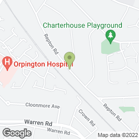 Map of Plasterer London in Orpington, kent