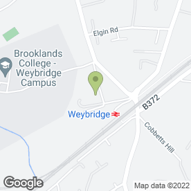 Map of The Hand & Spear in Weybridge, surrey