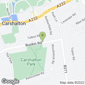 Map of Parkside Veterinary Centre in Carshalton, surrey