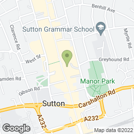 Map of B FASHION in Sutton, surrey