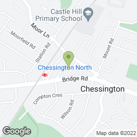 Map of CHESSINGTON VETERINARY SURGERY in Chessington, surrey