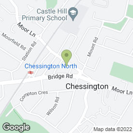 Map of Chessington Oak in Chessington, surrey