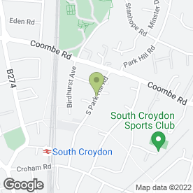 Map of Folly's End Christian School in South Croydon, surrey