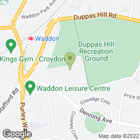Map of Just Learning Ltd in Croydon, surrey