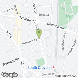 Map of KIRKDALE HOTEL in Croydon, surrey