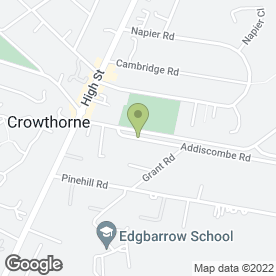 Map of Addiscombe Chimney Sweep in Crowthorne, berkshire