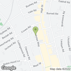 Map of SUTTON MUSIC CENTRE in Sutton, surrey