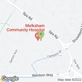 Map of St. Damian's Surgery in Melksham, wiltshire