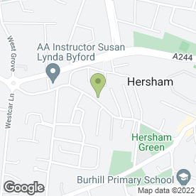 Map of WHEELBASE GARAGE in Hersham, Walton-On-Thames, surrey