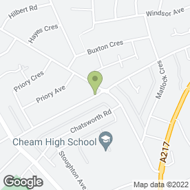 Map of Cheers Winemaking & Brewing Ltd in Cheam, Sutton, surrey