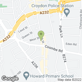 Map of Dickinson Estate Agents in Croydon, surrey