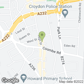 Map of El Sombrero in Croydon, surrey