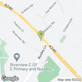 Map of FULLER HEATING in Ewell, Epsom, surrey