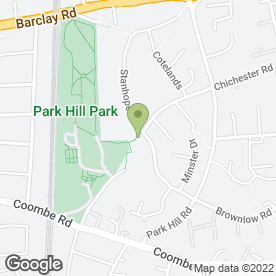Map of Park Hill Infant School in Croydon, surrey