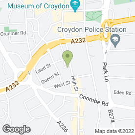Map of Mail Boxes Etc in Croydon, surrey