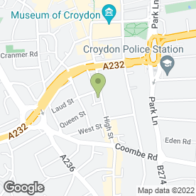 Map of CSE Cars in Croydon, surrey