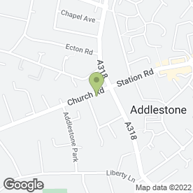 Map of Citizens Advice Bureau in Addlestone, surrey