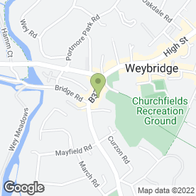 Map of Advanced Awnings & Blinds in Weybridge, surrey