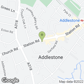 Map of Gascoigne Pees in Addlestone, surrey
