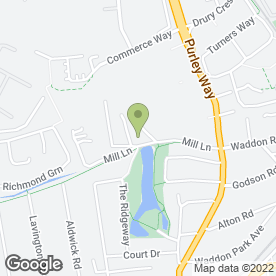 Map of Henry Woods Waste Management Ltd in Croydon, surrey