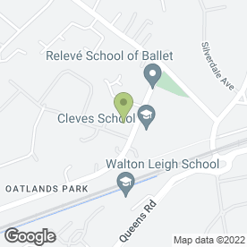 Map of Kumon Weybridge Centre in Weybridge, surrey
