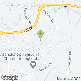 Map of Helen O'Grady Drama Academy in Croydon, Surrey, surrey
