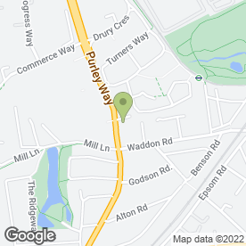 Map of National Tyres and Autocare in CROYDON, surrey